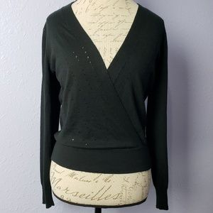 The Limited Deep V Light Weight Sweater Sequin